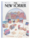 The New Yorker Cover - March 18, 1985 Regular Giclee Print by Lonni Sue Johnson