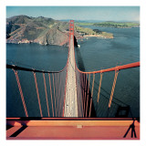 Vogue - February 1957 - Golden Gate Bridge Premium Photographic Print by Serge Balkin