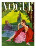 Vogue Cover - June 1947 Premium Giclee Print by René R. Bouché