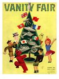 Vanity Fair Cover - December 1934 Regular Giclee Print by  Garretto