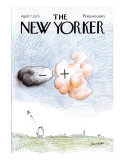The New Yorker Cover - April 7, 1975 Premium Giclee Print by Saul Steinberg