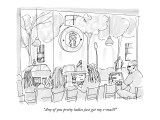 """""""Any of you pretty ladies just get my e-mail?"""" - New Yorker Cartoon Premium Giclee Print by Michael Crawford"""