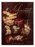 Gourmet Cover - April 1958 Regular Giclee Print by Henry Stahlhut