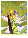 Vogue Cover - January 1927 - Among the Palms Premium Giclee Print by Eduardo Garcia Benito