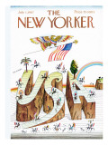The New Yorker Cover - July 1, 1967 Regular Giclee Print by Saul Steinberg