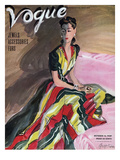 Vogue Cover - October 1939 Regular Giclee Print by R.S. Grafstrom
