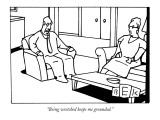 &quot;Being wretched keeps me grounded.&quot; - New Yorker Cartoon Premium Giclee Print by Bruce Eric Kaplan