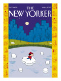 The New Yorker Cover - January 8, 2007 Regular Giclee Print by Ivan Brunetti