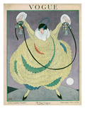 Vogue Cover - June 1917 Premium Giclee Print by George Wolfe Plank