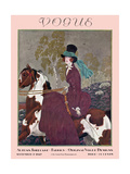 Vogue Cover - September 1927 Regular Giclee Print by Pierre Brissaud