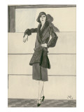 "Vogue - September 1929 Premium Giclee Print by Carl ""Eric"" Erickson"