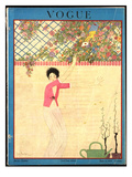 Vogue Cover - July 1918 Premium Giclee Print by Georges Lepape