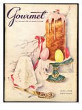 Gourmet Cover - April 1956 Regular Giclee Print by Hilary Knight