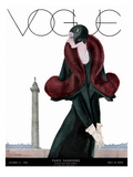 Vogue Cover - October 1929 Premium Giclee Print by Georges Lepape