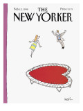The New Yorker Cover - February 12, 1990 Premium Giclee Print by Arnie Levin