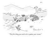 """The first thing you need to do is update your résumé."" - New Yorker Cartoon Premium Giclee Print by Danny Shanahan"