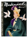 Mademoiselle Cover - February 1937 Regular Giclee Print by Elizabeth Dauber