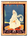 Vogue Cover - January 1916 Regular Giclee Print by Helen Dryden