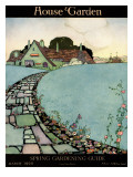 House & Garden Cover - March 1920 Premium Giclee Print by Harry Richardson