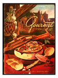 Gourmet Cover - October 1949 Regular Giclee Print by Henry Stahlhut