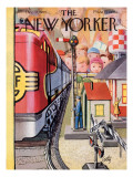 The New Yorker Cover - December 17, 1955 Premium Giclee Print by Arthur Getz