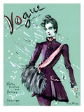 Vogue Cover - October 1936 Regular Giclee Print by Christian Berard