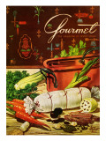 Gourmet Cover - April 1954 Premium Giclee Print by Henry Stahlhut