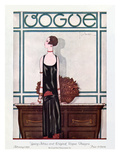 Vogue Cover - February 1925 Premium Giclee Print by Georges Lepape