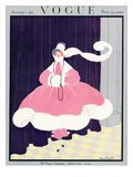 Vogue Cover - January 1916 Premium Giclee Print by Irma Campbell
