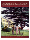 House & Garden Cover - January 1934 Regular Giclee Print by Pierre Brissaud