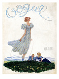 Vogue Cover - June 1933 Regular Giclee Print by Georges Lepape
