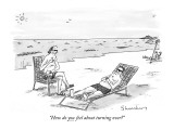 &quot;How do you feel about turning over?&quot; - New Yorker Cartoon Premium Giclee Print by Danny Shanahan