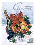 Gourmet Cover - December 1944 Premium Giclee Print by Henry Stahlhut