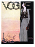 Vogue Cover - October 1930 Regular Giclee Print by Georges Lepape