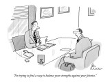 """I'm trying to find a way to balance your strengths against your felonies."" - New Yorker Cartoon Premium Giclee Print by Leo Cullum"
