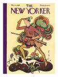 The New Yorker Cover - October 8, 1927 Premium Giclee Print by Rea Irvin