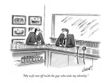 """My wife ran off with the guy who stole my identity."" - New Yorker Cartoon Premium Giclee Print by Tom Cheney"