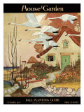 House & Garden Cover - October 1917 Premium Giclee Print by Charles Livingston Bull