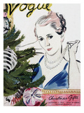 "Vogue Cover - December 1934 Regular Giclee Print by Carl ""Eric"" Erickson"