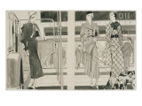 Vogue - March 1933 Regular Giclee Print by Jean Pagès