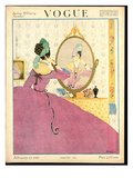 Vogue Cover - February 1918 Premium Giclee Print by Helen Dryden