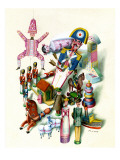 House & Garden - November 1944 Premium Giclee Print by Jan B. Balet