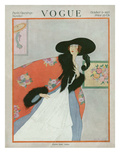 Vogue Cover - October 1917 Premium Giclee Print by Helen Dryden
