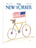 The New Yorker Cover - July 8, 1985 Premium Giclee Print by Saul Steinberg