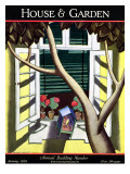 House & Garden Cover - January 1928 Premium Giclee Print by Bradley Walker Tomlin