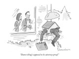 &quot;Damn thing&#39;s supposed to be attorney-proof.&quot; - New Yorker Cartoon Premium Giclee Print by Danny Shanahan
