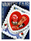 Vanity Fair Cover - February 1933 Premium Giclee Print by Miguel Covarrubias