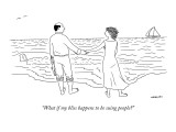 &quot;What if my bliss happens to be suing people?&quot; - New Yorker Cartoon Premium Giclee Print by Alex Gregory