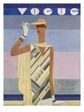 Vogue Cover - July 1928 Premium Giclee Print by Eduardo Garcia Benito