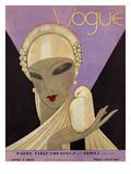 Vogue Cover - April 1927 Regular Giclee Print by Eduardo Garcia Benito